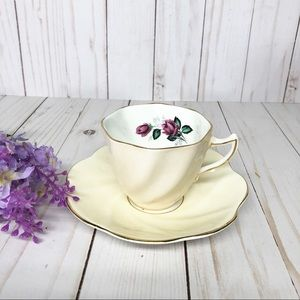 Vintage Rosina Bone China Cup and Saucer England